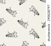 xylophone doodle seamless... | Shutterstock .eps vector #290028797