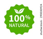 100  all natural stamp  label ... | Shutterstock .eps vector #290030924
