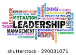 leadership word cloud on white... | Shutterstock . vector #290031071