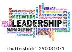 leadership word cloud on white... | Shutterstock . vector #290031071