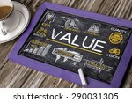value concept with business... | Shutterstock . vector #290031305