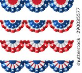 us flag round bunting... | Shutterstock .eps vector #290035577