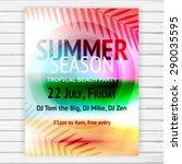tropical summer party flyer ...   Shutterstock .eps vector #290035595