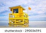 Florida Beach Yellow Lifeguard...