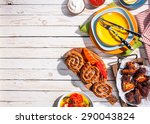 high angle view of grilled... | Shutterstock . vector #290043824