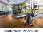 fitness center with traineger...