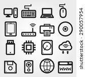 computer vector icons | Shutterstock .eps vector #290057954