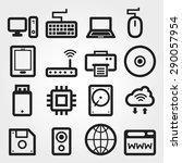 computer vector icons | Shutterstock .eps vector #290057954