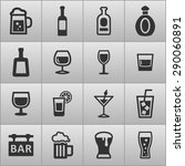 drink icon collection | Shutterstock .eps vector #290060891