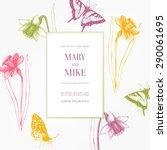 Wedding Card Design With Ink...