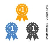number  1 winner ribbon award... | Shutterstock .eps vector #290067341