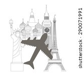 travel concept design  vector... | Shutterstock .eps vector #290071991