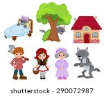 little red riding hood | Shutterstock .eps vector #290072987