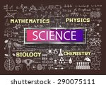 hand drawn science on... | Shutterstock .eps vector #290075111
