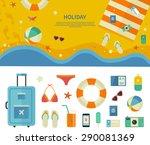 summertime traveling template... | Shutterstock .eps vector #290081369