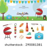 summertime holiday template... | Shutterstock .eps vector #290081381