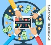 financial concept. make money... | Shutterstock .eps vector #290081441