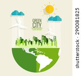 green city. environmentally... | Shutterstock .eps vector #290081825