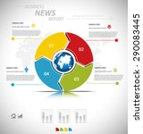 business infographic template... | Shutterstock .eps vector #290083445