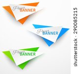 set of triangular colorful... | Shutterstock .eps vector #290085215