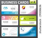 business cards. vector. | Shutterstock .eps vector #29008636