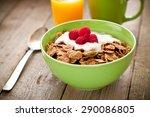 whole grain cereals for...   Shutterstock . vector #290086805
