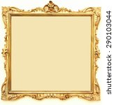 frame for painting  wood  with... | Shutterstock . vector #290103044