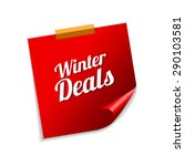 winter deals red sticky notes... | Shutterstock .eps vector #290103581