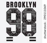 brooklyn college sport bandana... | Shutterstock .eps vector #290111069