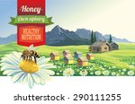 mountain landscape with a bee...   Shutterstock .eps vector #290111255