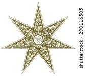 fairy star  elven  heptagram ...   Shutterstock .eps vector #290116505