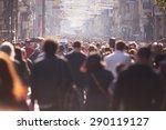 people crowd walking on busy... | Shutterstock . vector #290119127