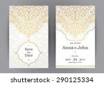 vintage ornate cards in... | Shutterstock .eps vector #290125334