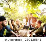 friend celebrate party picnic... | Shutterstock . vector #290125841