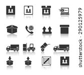 shipping icon set vector eps10. | Shutterstock .eps vector #290125979
