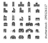 buildings icons vector eps10. | Shutterstock .eps vector #290126117