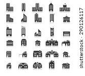 buildings icons vector eps10. | Shutterstock .eps vector #290126117