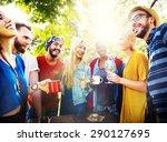 friend celebrate party picnic... | Shutterstock . vector #290127695