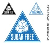 sugar free triangle icon | Shutterstock .eps vector #290134169