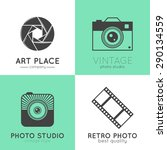 vector collection of photo... | Shutterstock .eps vector #290134559
