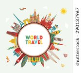 travel and tourism background.... | Shutterstock .eps vector #290137967