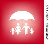 family under umbrella   family... | Shutterstock .eps vector #290141171