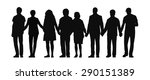 silhouette of group of people... | Shutterstock . vector #290151389
