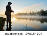 Fisher Man Fishing With...