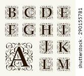 vintage set capital letters ... | Shutterstock .eps vector #290155781