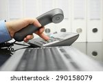 businessman  on the workplace...   Shutterstock . vector #290158079