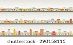 streets of a colorful city | Shutterstock .eps vector #290158115