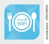 free wifi zone  icon concept... | Shutterstock .eps vector #290158901