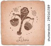 libra zodiac sign horoscope...   Shutterstock .eps vector #290161589