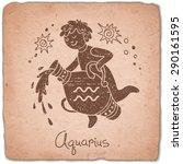 aquarius zodiac sign horoscope...   Shutterstock .eps vector #290161595